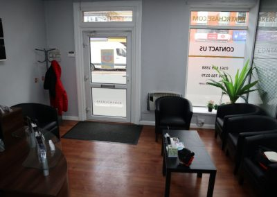 Reception entrance at 624-626 Stockport Road Logsight Manchester to rent