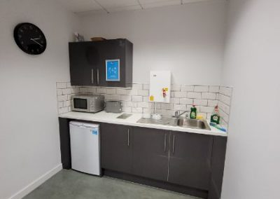 Kitchen at Cheadle Place Business Centre to let