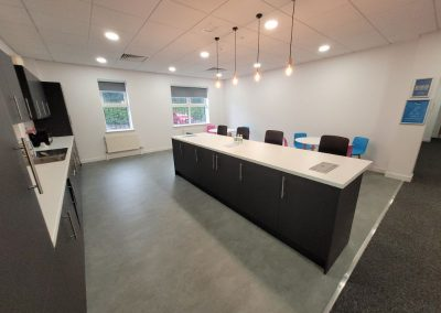 large communal kitchen at cheadle business park