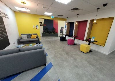 Entrance foyer to Cheadle Place Business Park - offices to rent