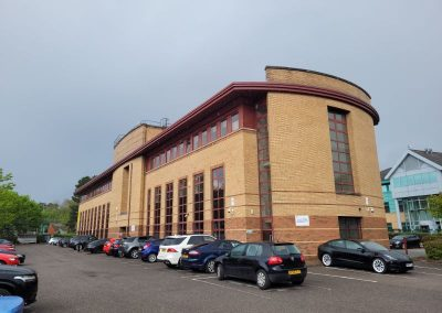 Large private car park included with office space in cheadle to rent