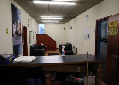 Reception area at Unit 1a Sandfold Lane in Levensulme for sale