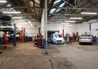 Interior of car garage for sale in Levenshulme