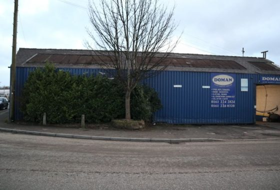 Vehicle repair garage and property for sale in Levenshulme Manchester