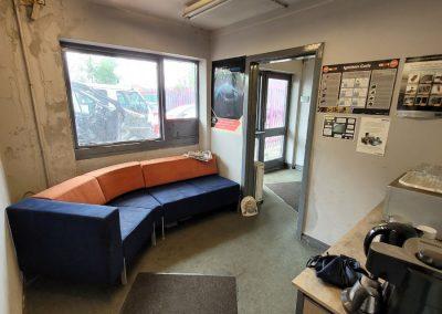 Waiting room for MOT garage at Victory Park Industrial Estate - Investment Sale