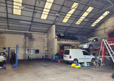 Main workshop area at Unit 1 Victory Park Failsworth