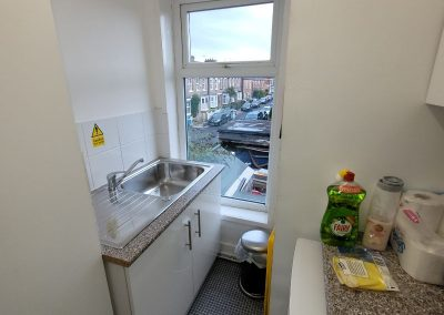 Kitchen at office premises to rent in Didsbury